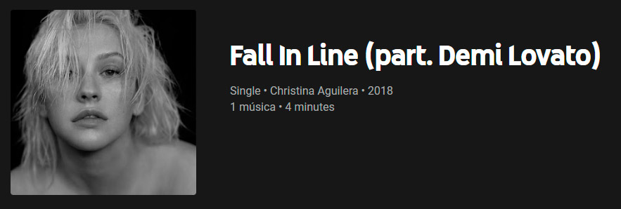 fall in line single digital